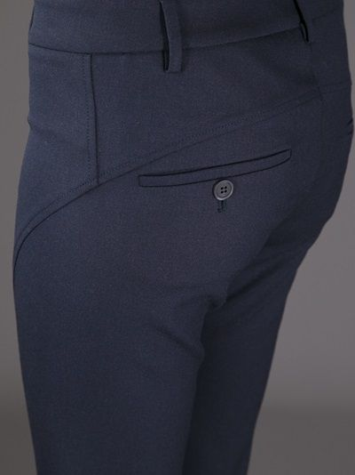 BRUNELLO CUCINELLI - slim trouser 10 . slim short leg wool bleu . http://www.farfetch.com/shopping/women/brunello-cucinelli-slim-trouser-item-10468752.aspx