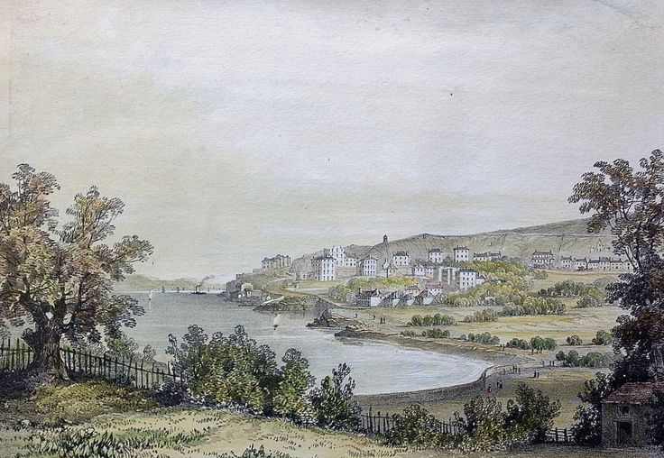 Case Study Site 23 – Minehead to Clevedon - CHeRISH Management  Figures 23.14 (top) and 23.15 (bottom) are two views of the elegant resort of Clevedon, which marks the northern end of this Case Study.  Lithographed from drawings by Lady Elton they show the developing town in 1838.  Like the views of Weston-Super-Mare such accurate drawings plot the history of the principal buildings through the nineteenth century and beyond.