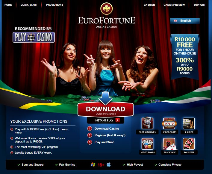 #NewSouthAfricanOnlineCasino   #EuroFortuneCasino   #R10000Free  Euro Fortune is a new South African #onlinecasino accepting Rand. Register today and get R 10,000 free with one hour to play and win as much as you can.  http://onlinecasinobonus.co.za/euro-fortune-online-casino-review.html