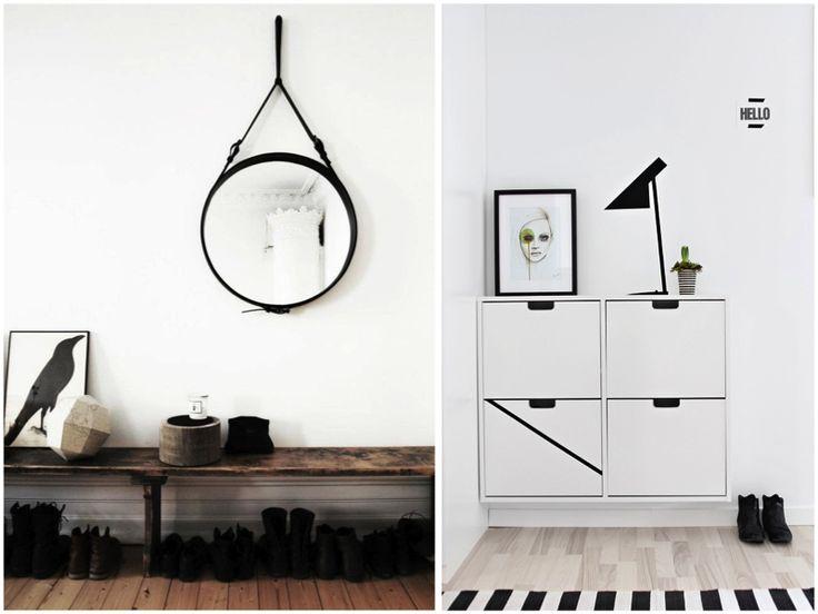 Hallway - Adnet mirror and IKEA shoe cabinet