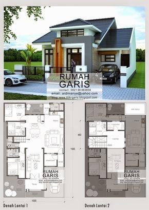 desain model denah dan tampak rumah 2 lantai di makassar