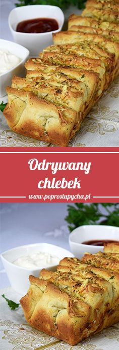 Odrywany chlebek czosnkowo-ziołowy! :) Skusisz się? #poprostupycha #przepis #chlebek #przekaska