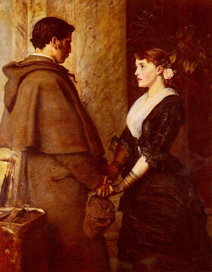 Sir John Everett Millais - Yes, 1877 - England J.E. Millais was a member of the Pre-Raphaelite Brotherwood.