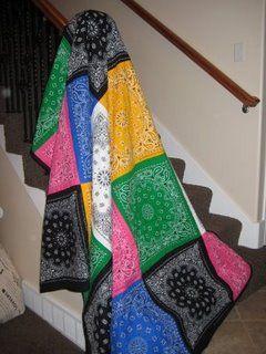 Dollar Store Crafts »Archivo del blog» Hacer un pañuelo de Edredón
