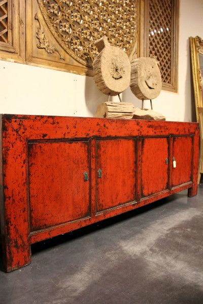 Prachtige oude Chinese dressoir - Beatifull antique Chinese cupboard @ Colonial Warehouse Belgium
