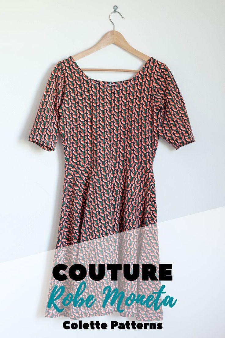 Couture : robe Moneta de Colette Patterns, jupe et encolure modifiées