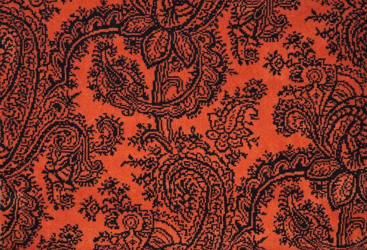 CACHEMIRE CASTAING ORANGE  Collection de moquettes haut de gamme tissées 100% laine, unies ou à motifs. Modèles réalisables en tapis à vos dimensions ou moquettes murs à murs. Motifs personnalisables par nos gammes de coloris ou nuances de votre choix.