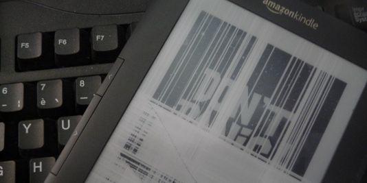 Un lecteur Kindle dAmazon. Amazon a introduit avec succès sa liseuse électronique, tandis quun produit équivalent lancé plus tôt par lentreprise japonaise Sony, la Sony Reader, na pas connu le même engouement. | Amazon