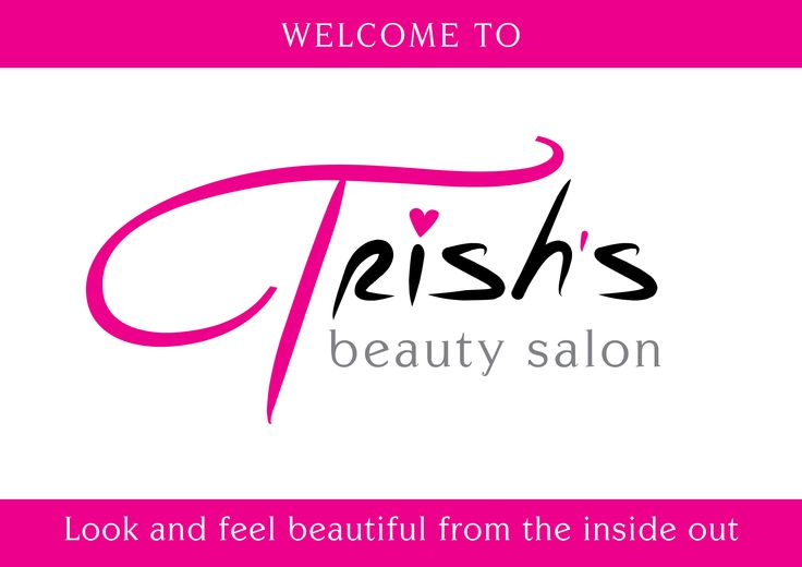 A3 Door Sign for Trish's Beauty Salon