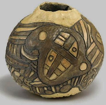 Ceramic Pot 1982. Thanakupi (Gloria Fletcher ). 1937 – 2011. Aboriginal ceramicist.