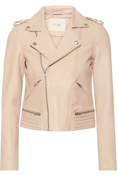 Blush leather  Asymmetric zip fastening through front 100% leather (Lamb); lining1: 62% cotton, 38% polyester; lining2: 100% cotton Specialist clean Designer color: Nude Imported