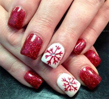 Simple Christmas Nail Art Designs