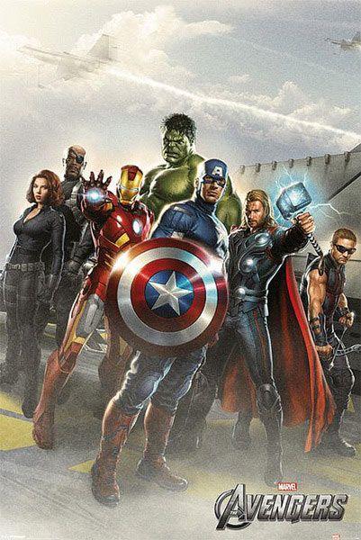Póster Los Vengadores, personajes