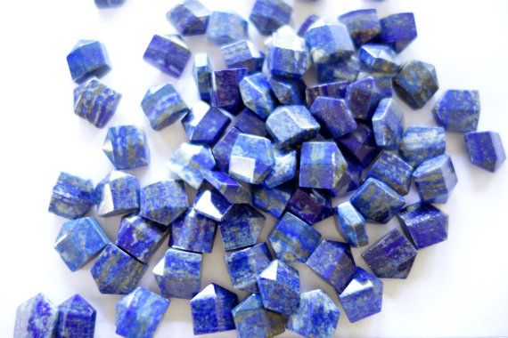 Lapis Lazuli B Grade flat Prims by CrystalYantra on Etsy