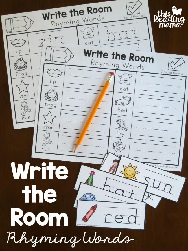 Write the Room with Rhyming Words - free - This Reading Mama