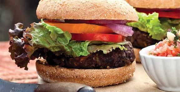 Black Bean and Roasted Sweet Potato Burger | KitchenDaily.com