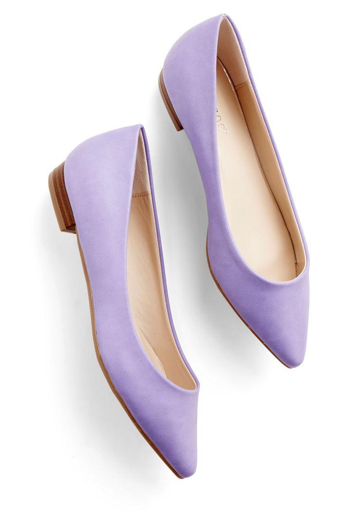 Follow the Arrow Flat in Lavender, #ModCloth