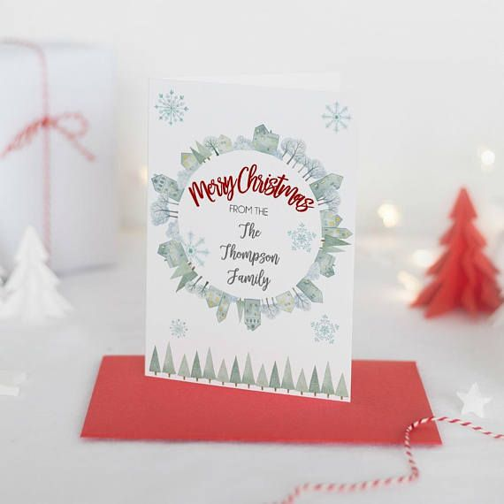 Family Christmas Cards Packs, Merry Christmas Card, Personalised Christmas Cards, Personalized Christmas Card Box Set, Xmas Card Box Set Check out this item in my Etsy shop https://www.etsy.com/ie/listing/566845865/family-christmas-cards-packs-merry