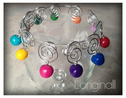 Ensemble de marques-verre colorés