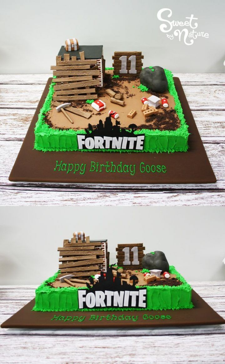 Goose Was 11 Years Old And Celebrated With This Fortnite Birthday Cake Created By Sweet By Nature Melbourne Vic Best Usa Pins Boy Birthday Cake Themed Birthday Cakes Birthday Party Cake