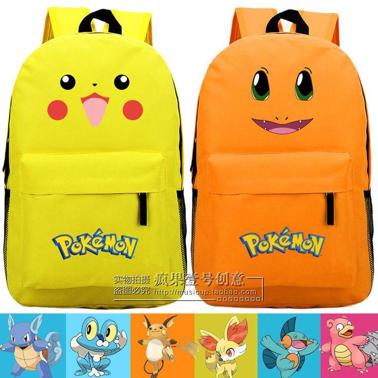 Pokemon Backpack Back Bag School Bag (Usa Seller)