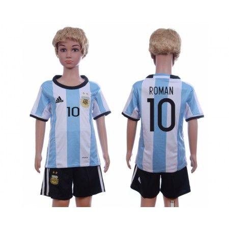 Argentina Trøje Børn 2016 #Roman 10 Hjemmebanetrøje Kort ærmer.199,62KR.shirtshopservice@gmail.com