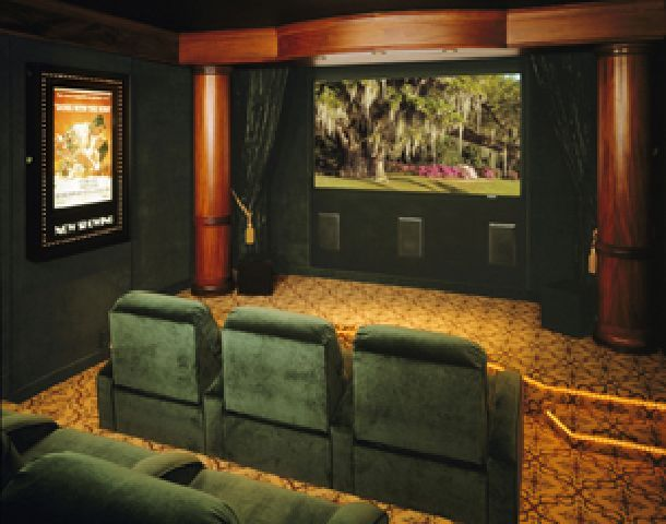 Custom Home Theater Systems InstallationWood