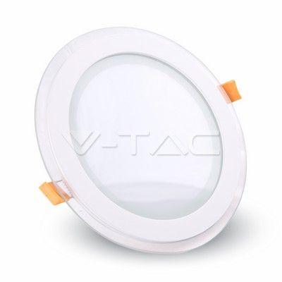 8,04€ 6W Pannello LED Mini Vetro rotondo Bianco caldo  SKU: 4740 | VT: VT-602G