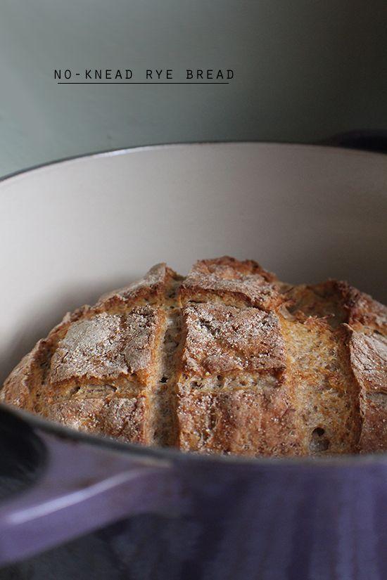 No-knead rye bread.