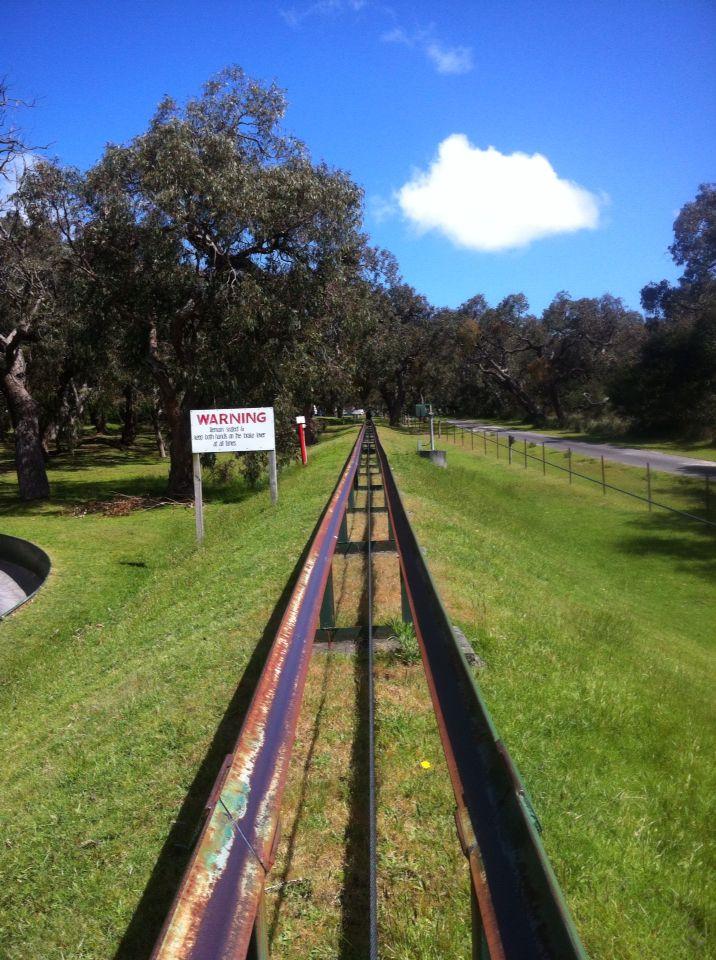 Toboggan at Gumbaya Park Melbourne Australia