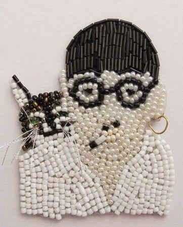 Embroidery Broach, Foujita