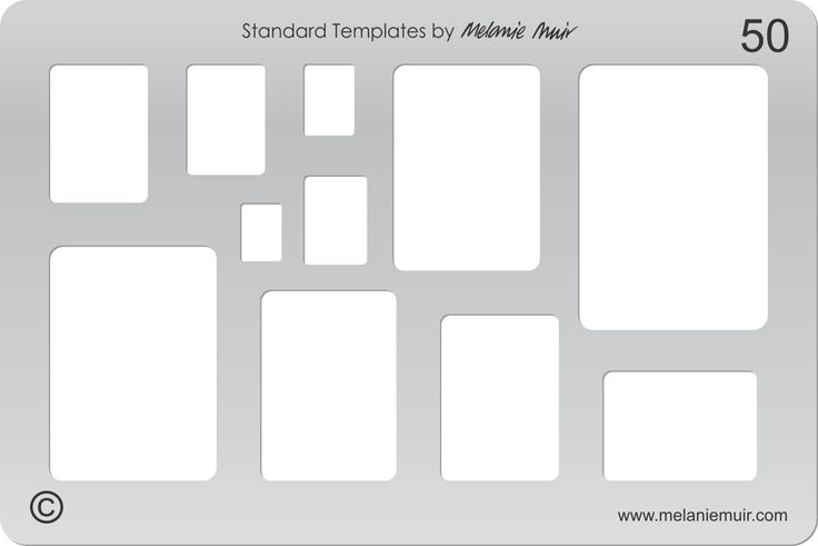 Acrylic template No. 50. Perfect for creating a wide variety of polymer, metal or clay bracelet, necklace, pendant and earring designs.