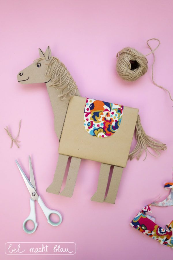 Pferde-Geschenkverpackung basteln