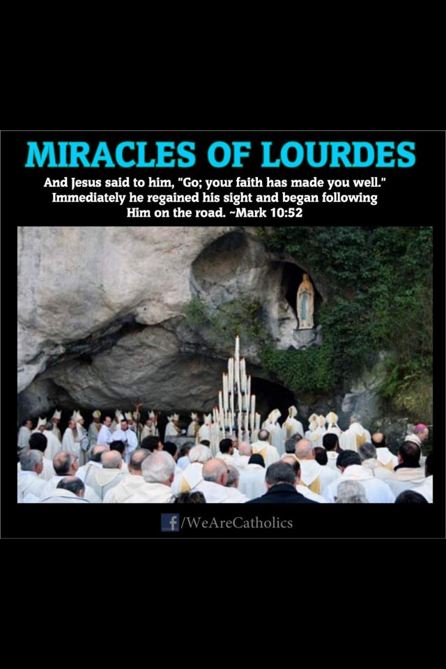 """Lourdes, France A most exhilarating experience. Many miracles occurred right before our eyes. We all participated in the nightly procession of candles and sang  """" Ave Maria"""" as we proceded towards the Sacred Grotto of Our Lady of Lourdes. Praise be to God!"""