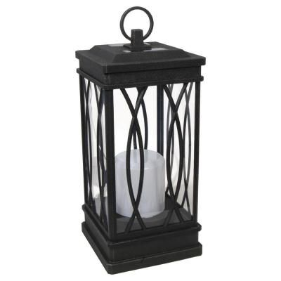 solar powered decorative lanterns 1 light solar black decorative lantern 8519 3511 01 at the 5594