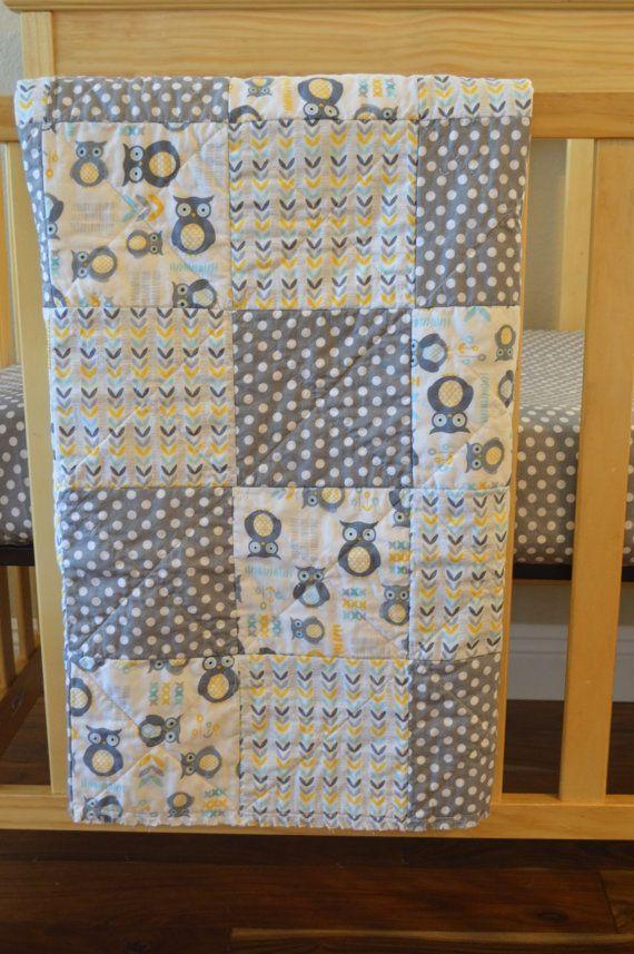 Snugly Owls baby bedding gender neutral  by MadeWithLoveBedding, $105.00