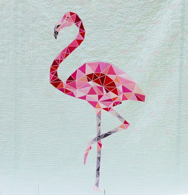 flamingo applique pattern - Google Search