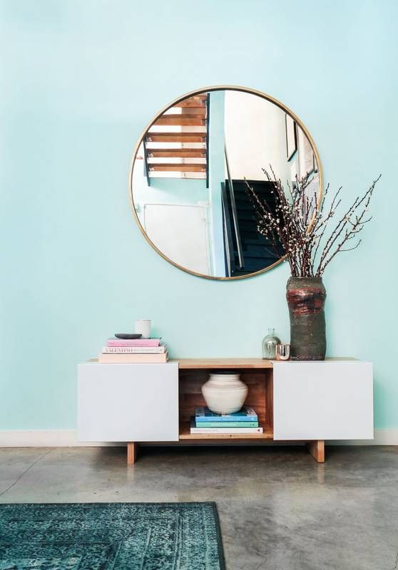 mint green wall and entryway inspiration