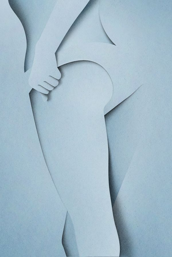Eiko Ojala- Naked  Paper Cut Illustrations