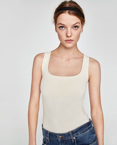 f09be7d7f24 Image 2 of WIDE STRAP TOP from Zara | Fashion Tops + Sweaters ...