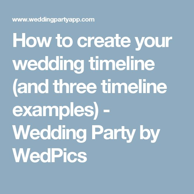 The 25+ best Timeline example ideas on Pinterest Wedding day - timeline examples