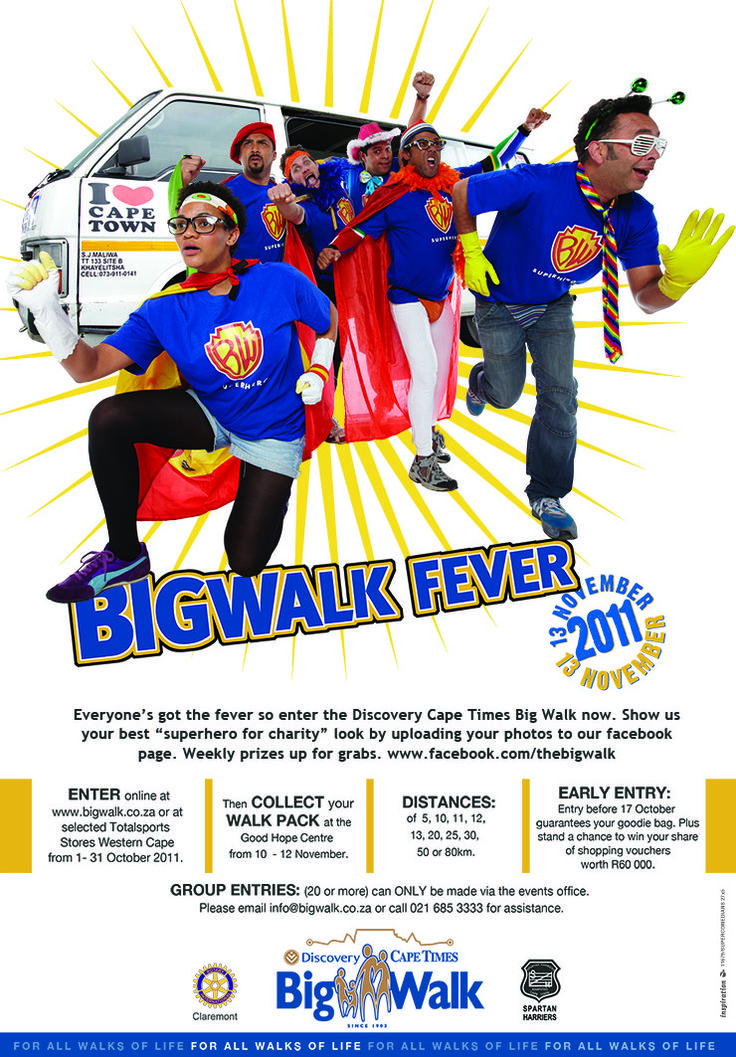 popular comedians pitch in to advertise the Big Walk