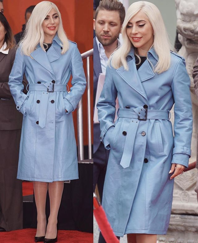 685117b9301 ladygaga attending event in a trench coat 👍🏼or👎🏼