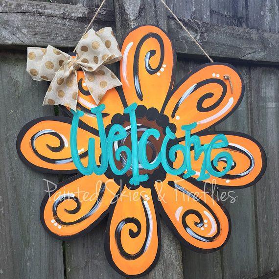 Flower Door Hanger / Sunflower / Summer Door Hanger / Fall