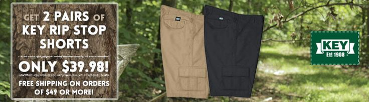 Are you ready for summer?   You can be with this deal.  Get 2 pairs of Key Rip Stop shorts for $39.98.   http://workingperson.com/lp/key-shorts-sale-april-2017.html?utm_medium=social&utm_source=PinterestKeyShorts4/6