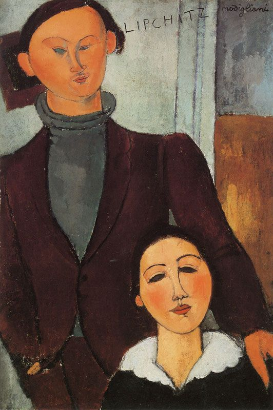 Amedeo Modigliani | Jacques and Berthe Lipchitz, 1916 80.7 x 54 cm Oil on canvas The Art Institute of Chicago Helen Birch Bartlett Memorial Collection