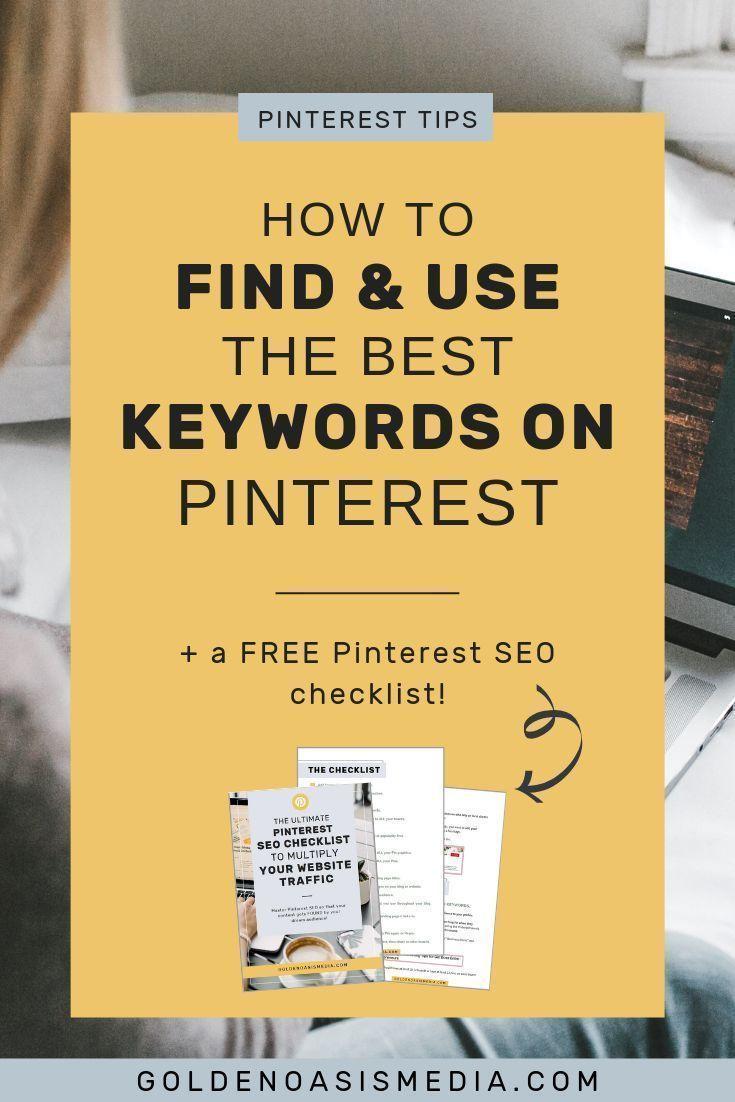 So finden und verwenden Sie Keywords auf Pinterest und finden Sie Ihre Inhalte