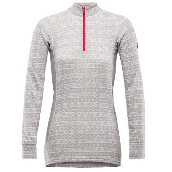 Alnes woman zip neck - Grey - Devold of Norway