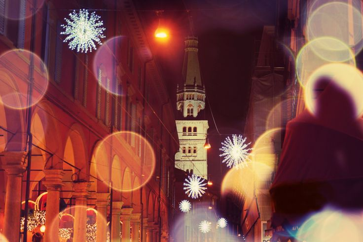 Modena during Christmas time ( 2013). I took this during a walk in Via Emilia, an historical street ( downtown)