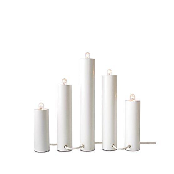 Orgel adventsljusstake - Orgel adventsljusstake - vit, vit textilsladd
